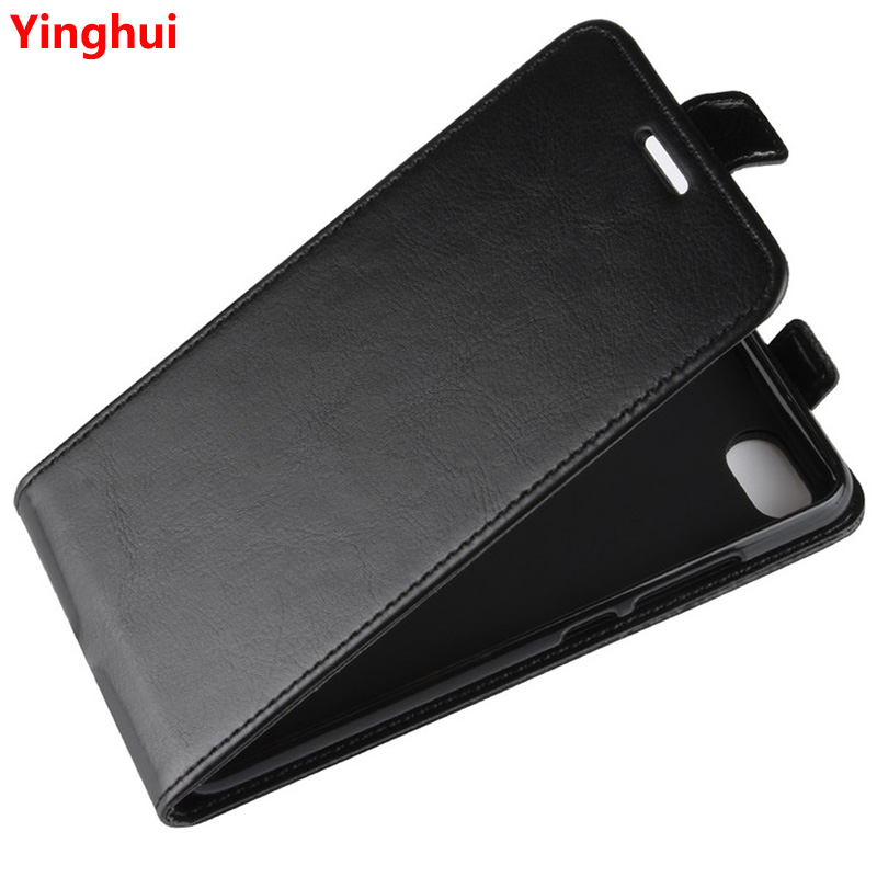 Image 1 - Redmi 6A Up Down Vertical Flip Wallet Leather Card Holder Case for Xiaomi Redmi 6A Full Protective Phone Cover Case-in Flip Cases from Cellphones & Telecommunications