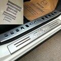 Acero inoxidable Travesaño de La Puerta Placa Del Desgaste Para El Mazda CX-5 CX5 2012 2013 2014 2015 Accesorios Pedal Plate Styling Puerta Cubierta almohadillas