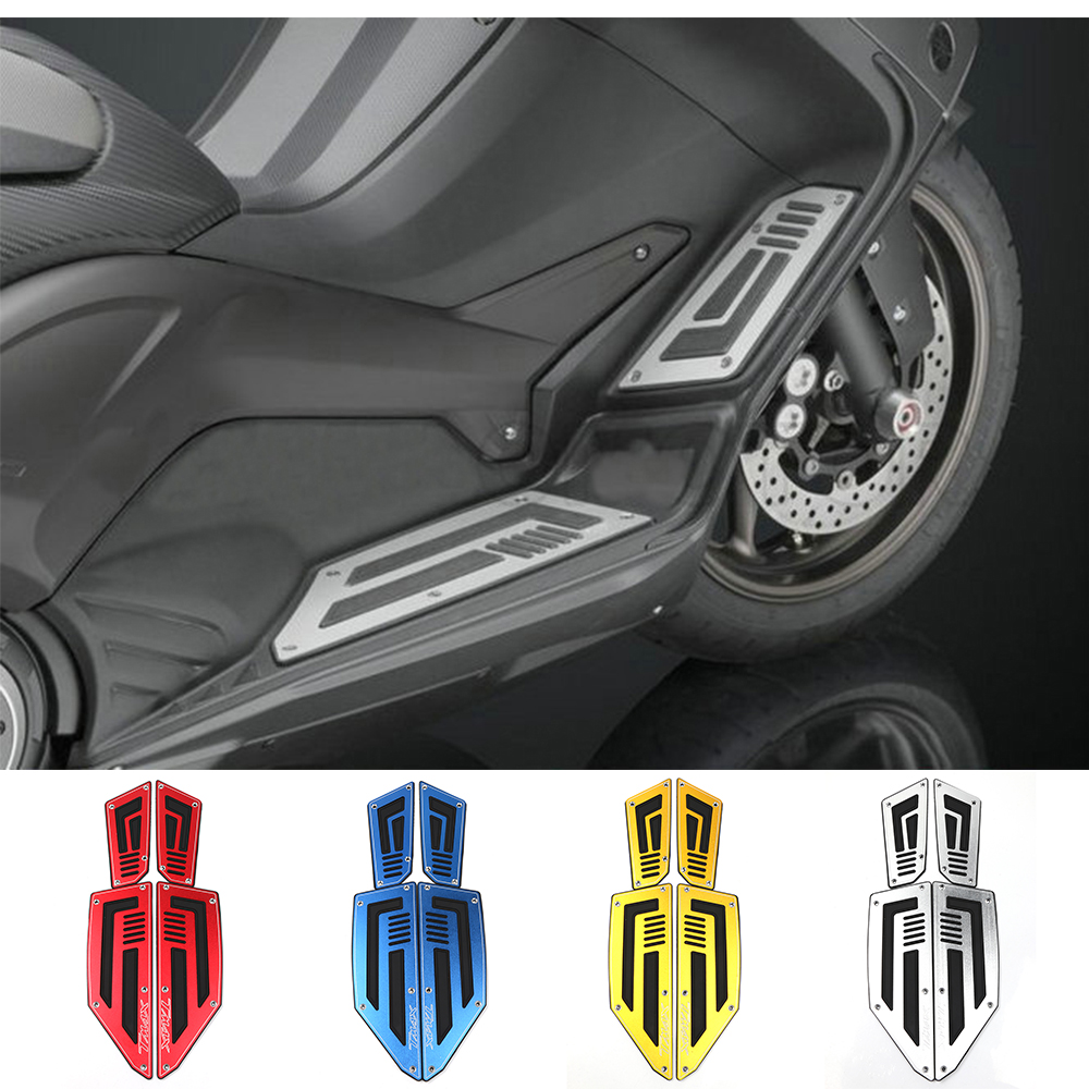 Motorcycle Footboard Steps Motorbike Foot Footrest Pegs Plate Pads For Yamaha TMAX 530 T-MAX 530 2012 2013 2014 2015 2016