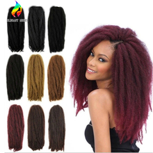 Afro Kinky Curly Twist Marley Braid Hair Extension Synthetic Kinky Crochet Hair Braid hair Synthetic Hair Extension Braid