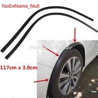 Newest design 117cm *3cm (1pair )for Peugeot 3008 Car Fender Flare Wheel Eyebrow Protector Lip Wheel arch Trim