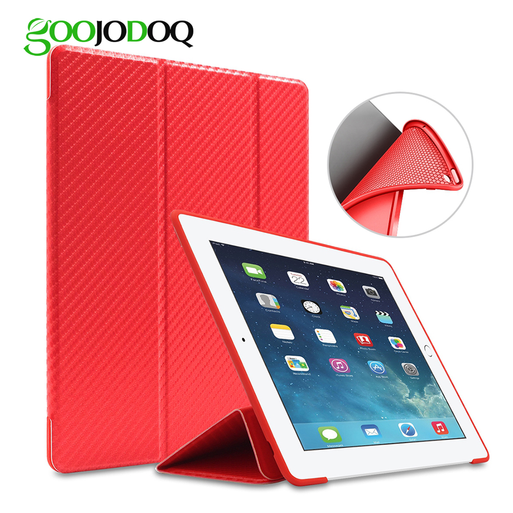 цены For Apple iPad 2 3 4 Case Silicone Soft Back GOOJODOQ PU Leather Flip Stand Auto Sleep/Wake for iPad 4 Case Smart Cover