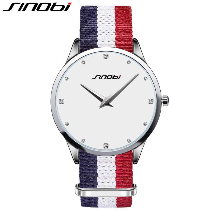 SINOBI 2017 New Fashion Women Watch Quartz Wristwatch Luxury Lady Bracelet Clock Rhinestone Waterproof Watches Relogio Feminino
