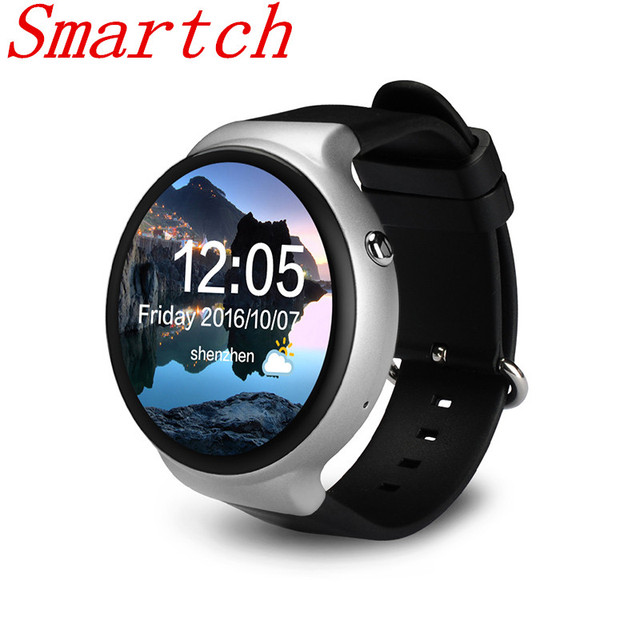 Smartch I4 smart watch android os MTK 6580 quad core 1 3GHz phone support  WIFI heart rate Pedometer Google map RAM 1GB ROM 16GB-in Smart Watches from