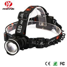PANYUE High Quality Power Headlamp Headlight Adjustable Focus Zoom Head light Pofessional Waterproof T6 LED Torch