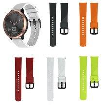 MASiKEN Silicone Sport Wristband Band Strap for Garmin Vivomove HR Hybrid Smartwatch Replace Accessories