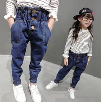 New Girls Jeans 2018 Spring Autumn Cute Trousers Baby Denim Pants High Quality Kids Clothing Children