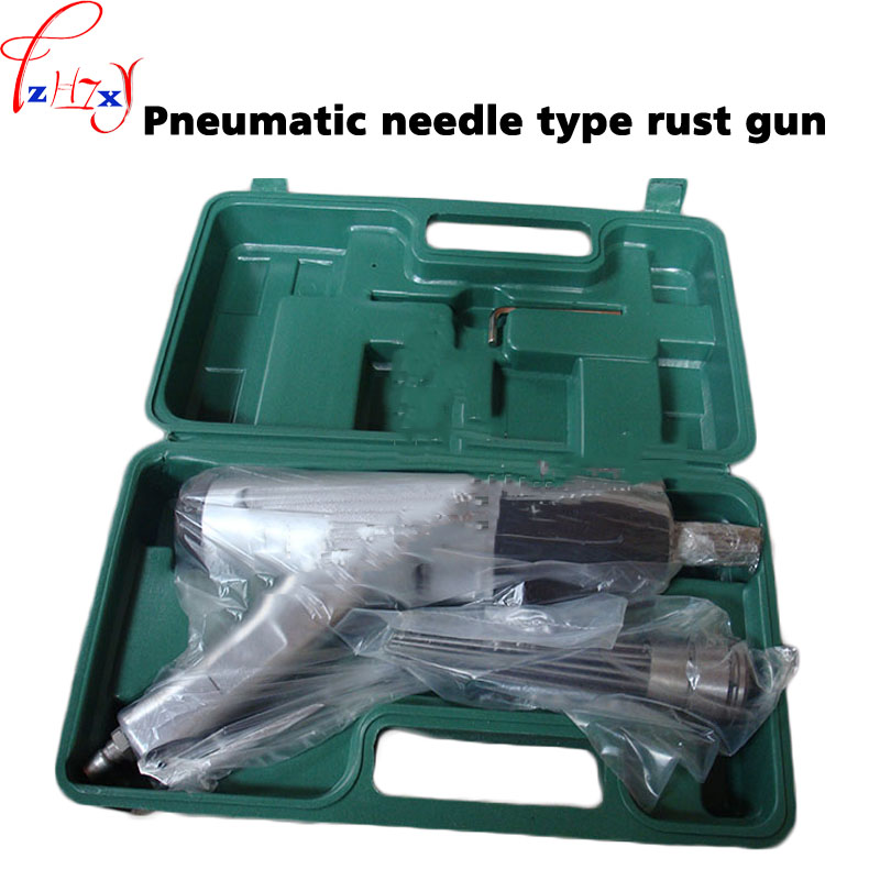Pneumatic needle anti-rust gun JEX-28 rust removal air Needle Scaler, Pneumatic derusting gun+plastic box 1pc