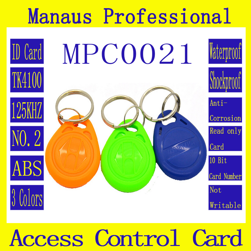 C21-1 High Quality 60Pcs RFID 125khz Chip Contactless Tag Proximity Access Control Card ID Keyfob Token, Available in 4 Colors