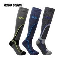 2017 зимние мужские теплые спортивные лыжные Носки толстые теплые Колено Chaussette де Ски Calcetines Ciclismo Hombre