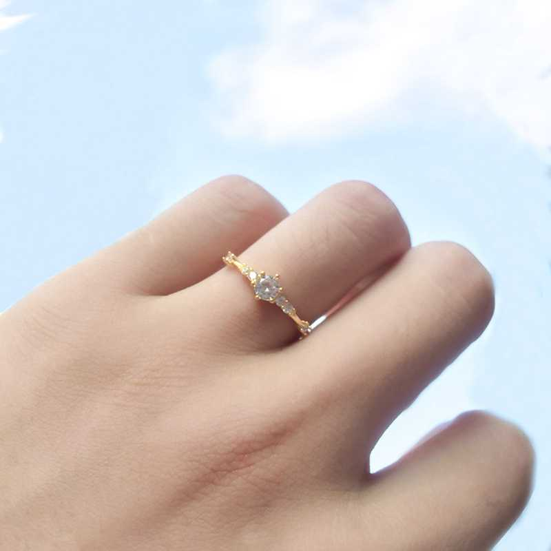 แฟชั่นผู้หญิงแหวนนิ้วมือเครื่องประดับ Rose Gold/Sliver/Gold สี Rhinestone แหวนคริสตัล 4/5/6 /7/8/9/10/11 ขนาดของขวัญ