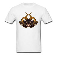 Best Gift Shirt On Sale 3D Demon Tribal Mask Skull T-Shirts For Boys Customized Make Your Own Dress T-Shirts Black Skull Tops