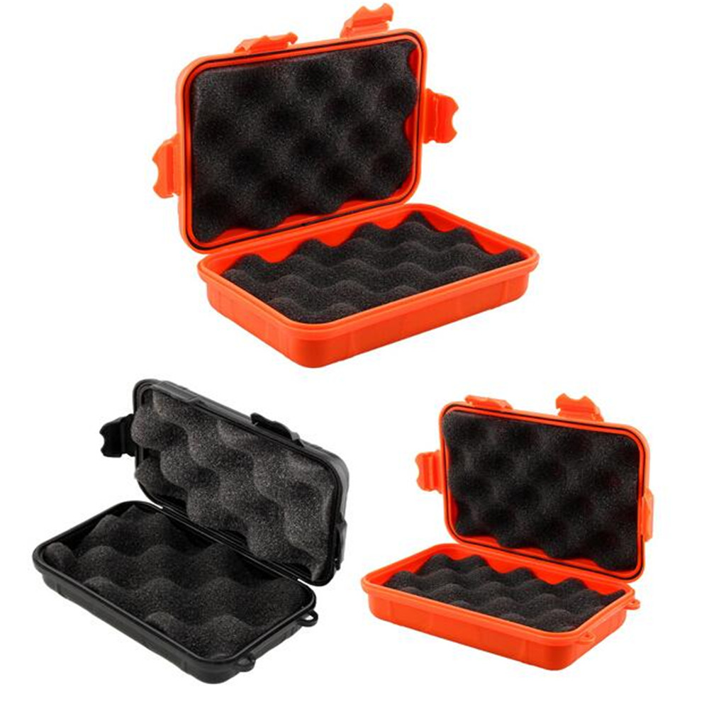 L/S Size Outdoor Plastic Box Waterproof Airtight Survival Case Container  Camping Outdoor Travel Storage Box