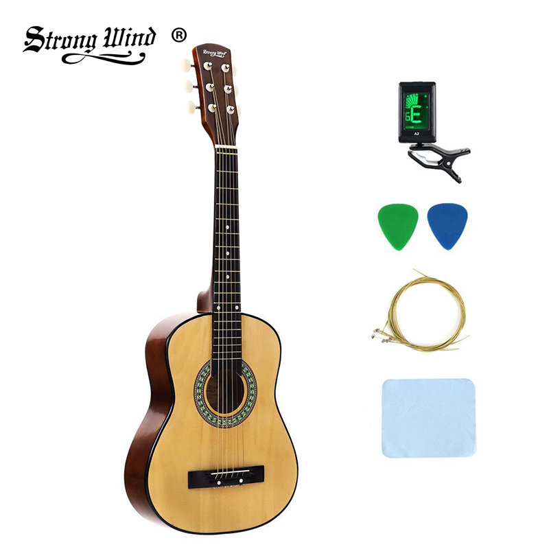 30 inch basswood acoustic guitar professional beginner adult unisex gitar 6 steel string wood 18. Black Bedroom Furniture Sets. Home Design Ideas