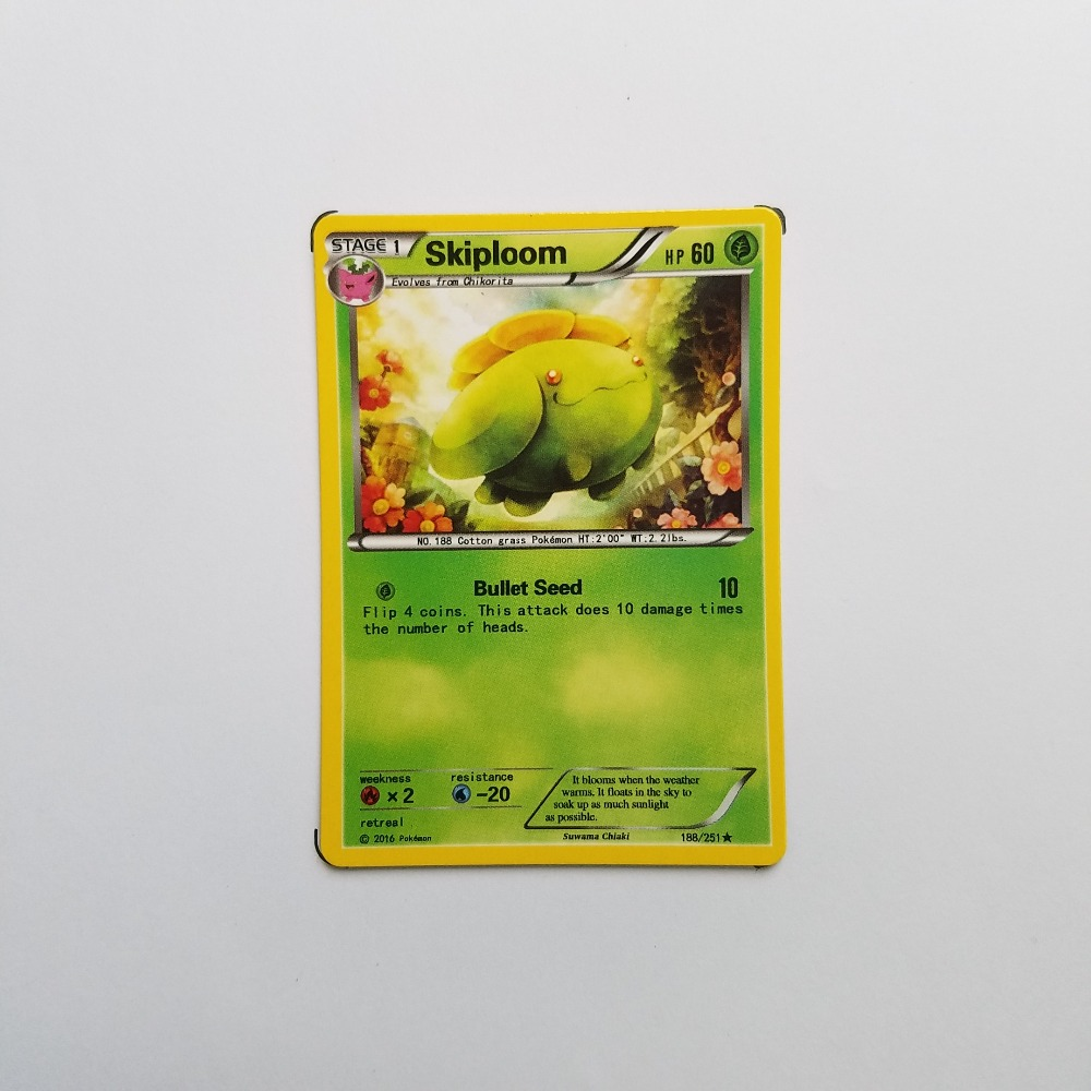 Pokemon Card Single Sale B20012 Skiploom Grass Type STAGE 1 Ordinary Card Play Anime Toys Cards Game Trading Collection