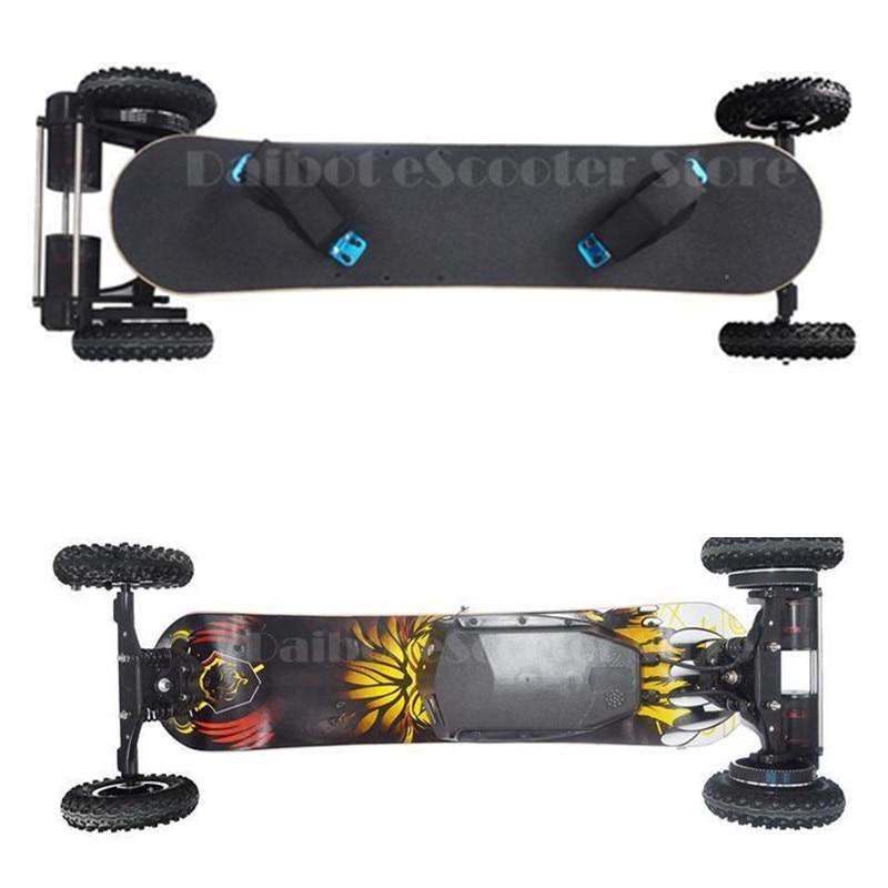 Elétrico de quatro Rodas Do Skate Longboard Dupla Motor 1650 W Elétrico 11000 mAh Hoverboard Scooter Oxboard