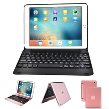NTSPACE For New iPad 2017 2018 9.7 Wireless Bluetooth Keyboard Foldable Stand Holder Case Air 1 2 Pro inch