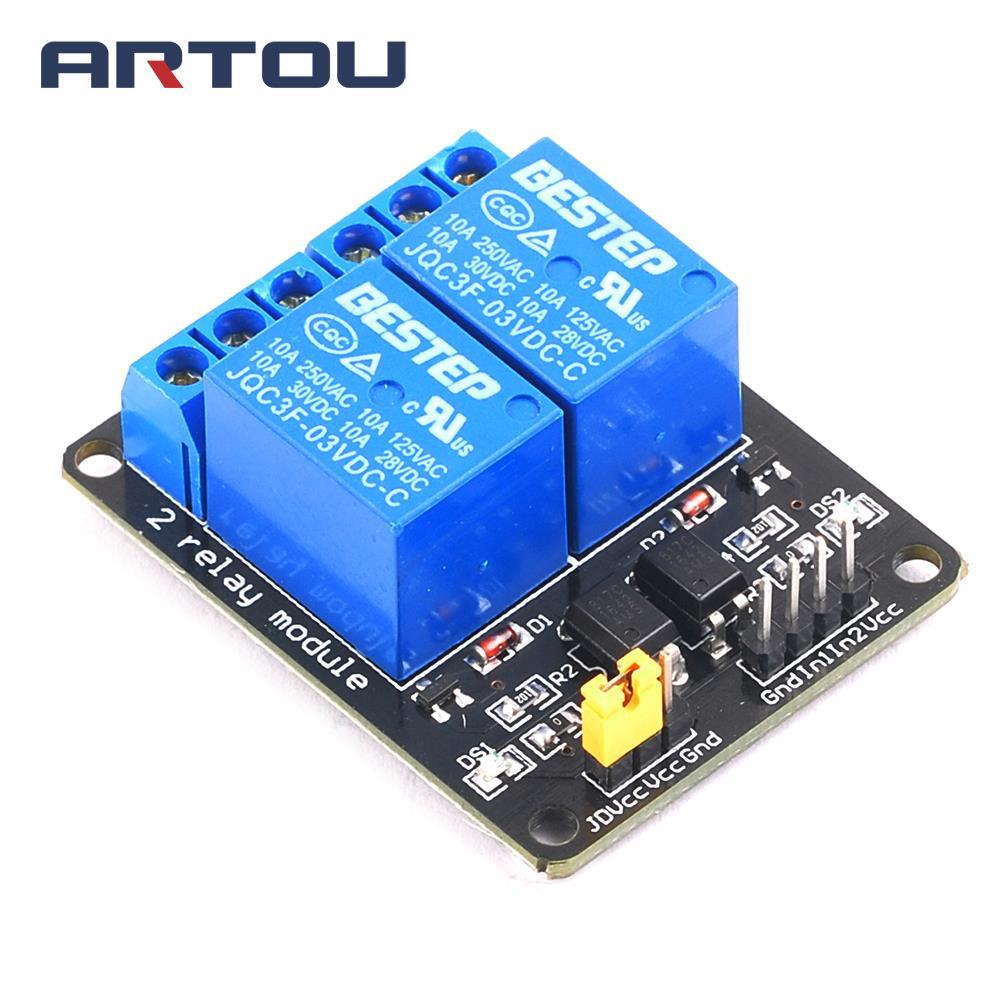 3,3 V 3V 2 Kanal Relais Modul mit Optokoppler Relais Ausgang 2 weg Relais Modul für Arduino