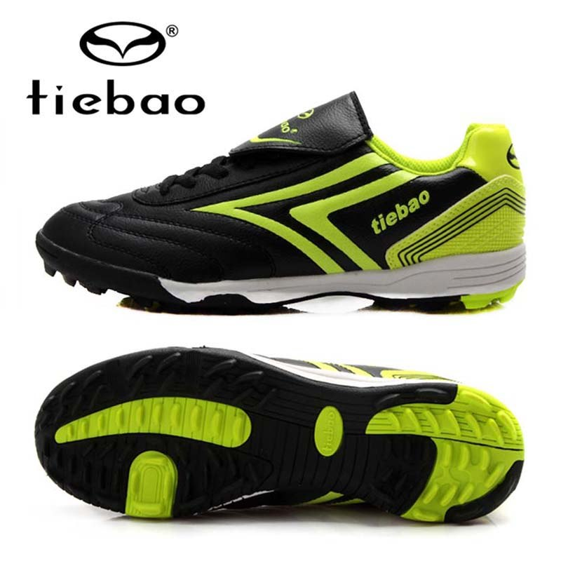 TIEBAO Professional Adult Soccer Shoes TF Turf Rubber Soles Athletic Training Sneakers Indoor Sport Men Women Football Boots tiebao brand football soccer shoes children kids athletic training football sneakers outdoor sport tf turf soles football shoes