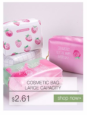Korean Creative Strawberry Pattern Cosmetic Bag