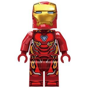 Image 5 - 608 pièces petits blocs de construction jouets compatibles lepding Iron Man Hall of Armor Marvel Super héros Avengers cadeau pour les filles garçons