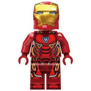 Image 5 - Figuras de acción de superhéroes de Marvel, Juguetes de bloques de construcción pequeños compatibles con leping, Iron Man, Salón de la armadura, regalo para niñas y niños, 608 Uds.