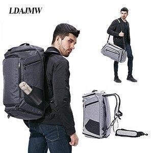 Image 1 - Bolsa de hombro con separación de ropa seca y húmeda, bolso deportivo para Fitness, equipaje de negocios, ropa, zapatos, bolsa de almacenamiento, organizador de accesorios