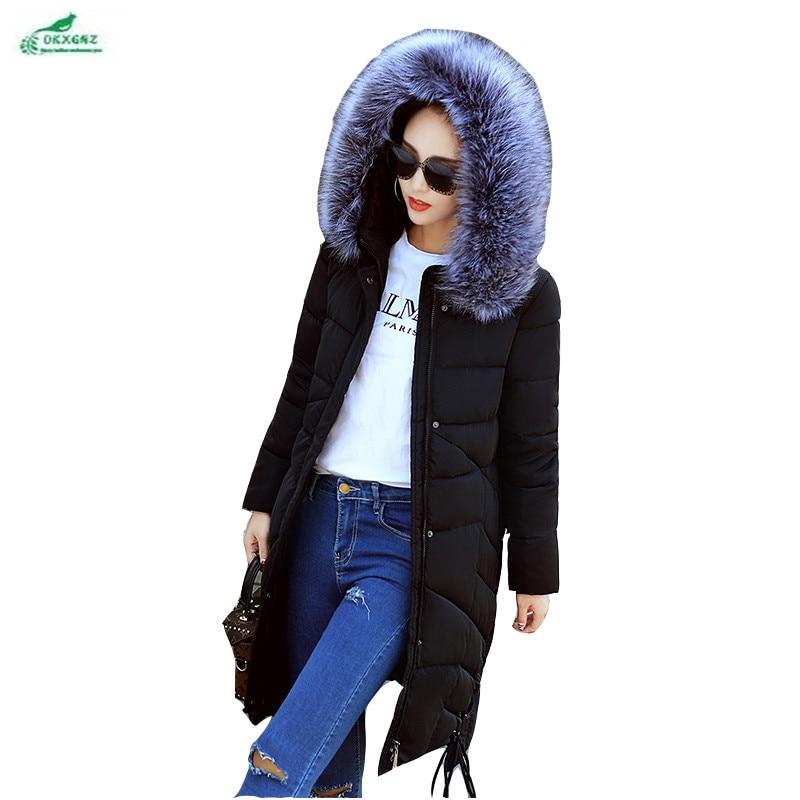 coréen Okxgnz Manteau black Long Plume White tarmac Marée Coton Af07 D'hiver Femme Section Moyen Épaississement Vêtements Nouvelle EqUgWA