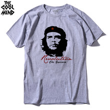 THE COOLMIND short sleeve Cotton che guevara revolution printed men t-shirt casual o-neck men's T-shirt female tee shirt(China)