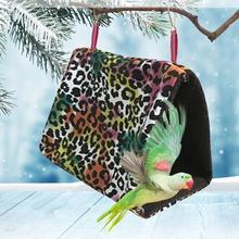 Птичье гнездо избушка Птичье гнездо Фланелевое Звездное зимнее Птичье гнездо маленькое домашнее теплое тканевое гнездо Птичье клетка для попугая птицы принадлежности