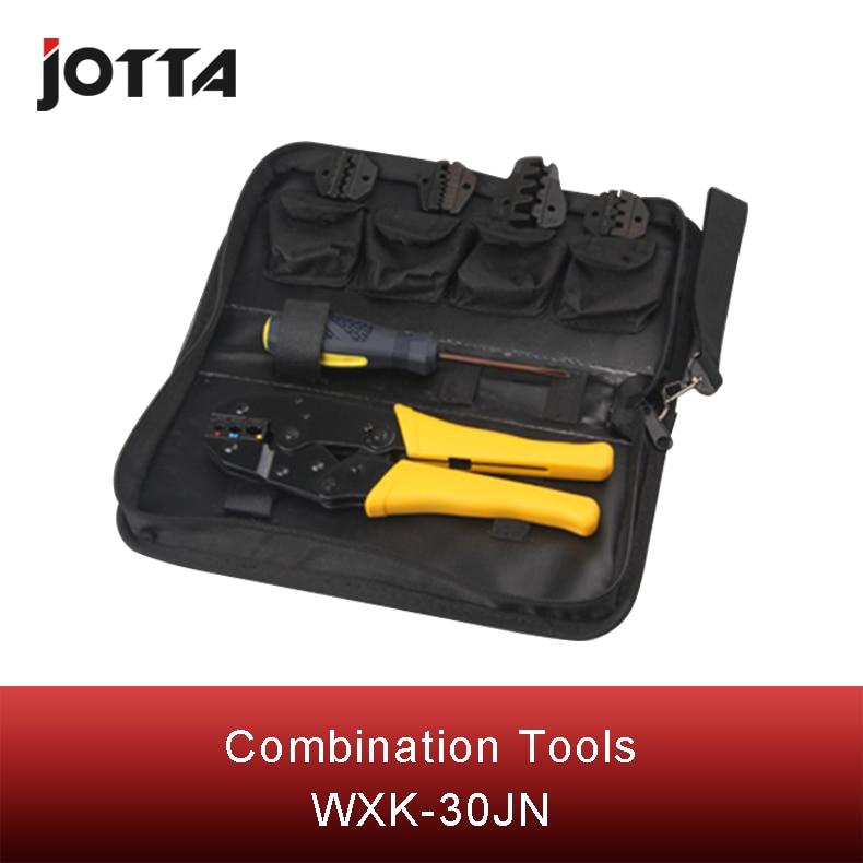 Купить с кэшбэком WXK-30JN mini combination tool WXK-30JN kits including 1 piece WX-30Jterminal crimping plier four typesof crimpingmoudle& S35WF