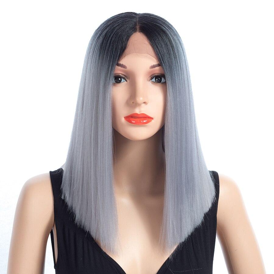 XCCOCO Glueless Heat Resistant Fiber Hair Mellandel Lång Straight - Syntetiskt hår