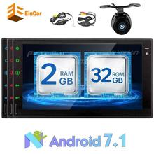 "Eincar 7 ""dual DIN car audio and Android 7.1 GPS navigation automatic FM /AM radio support Bluetooth WiFi OBD2 reversing camera"