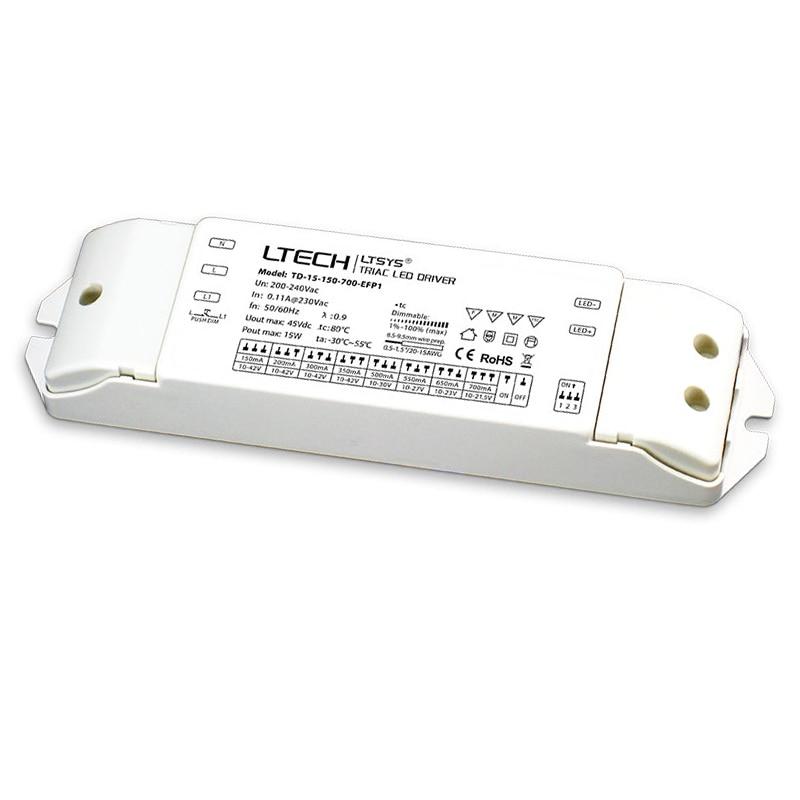 New CC Constant Current Led Triac Dimming Driver;AC200-240V Input;15W 20W 25W 30W 150mA-700mA 200mA-700mA 300mA-900mA Push DIM