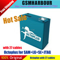 Original novo jtag octoplus conjunto completo para sam e lg e sonyerisson cabos (pacote com 27 cabos) venda quente DHL frete grátis