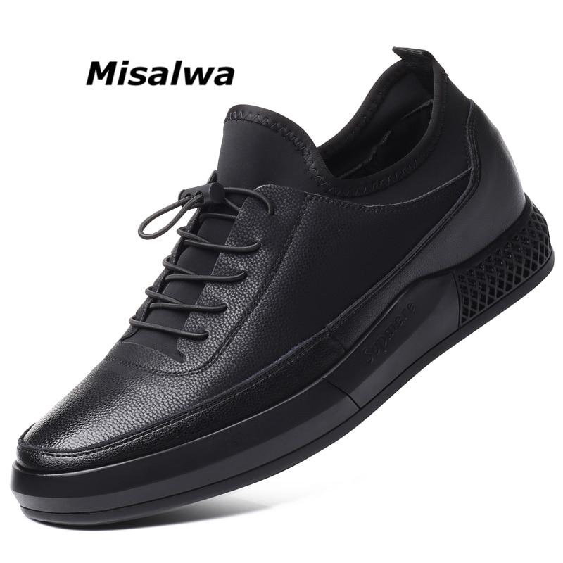 Misalwa 5 CM hauteur augmenter décontracté hommes baskets hommes chaussures d'ascenseur semelle épaisse jeunes hommes quotidien chaussures printemps/automne