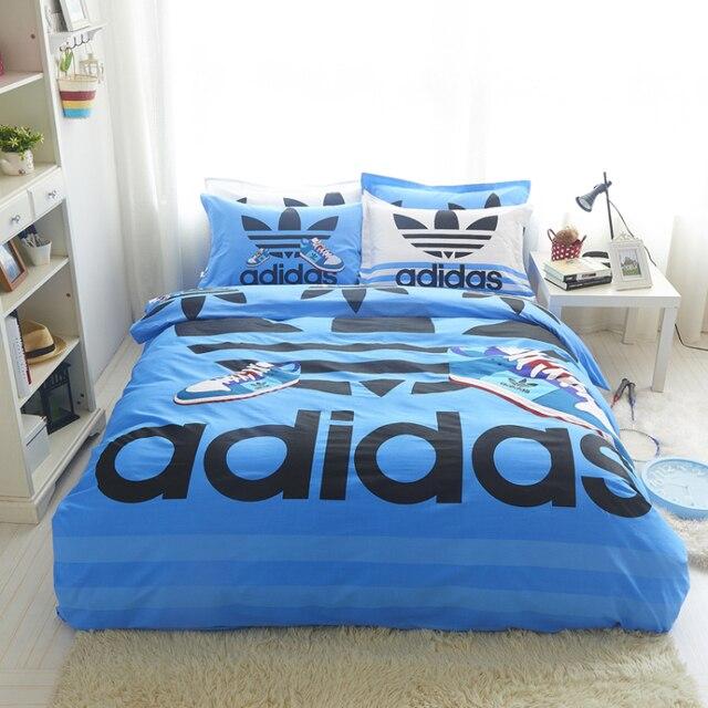 linge de lit sport Desinger marque sport ensemble de literie housse de couette drap  linge de lit sport