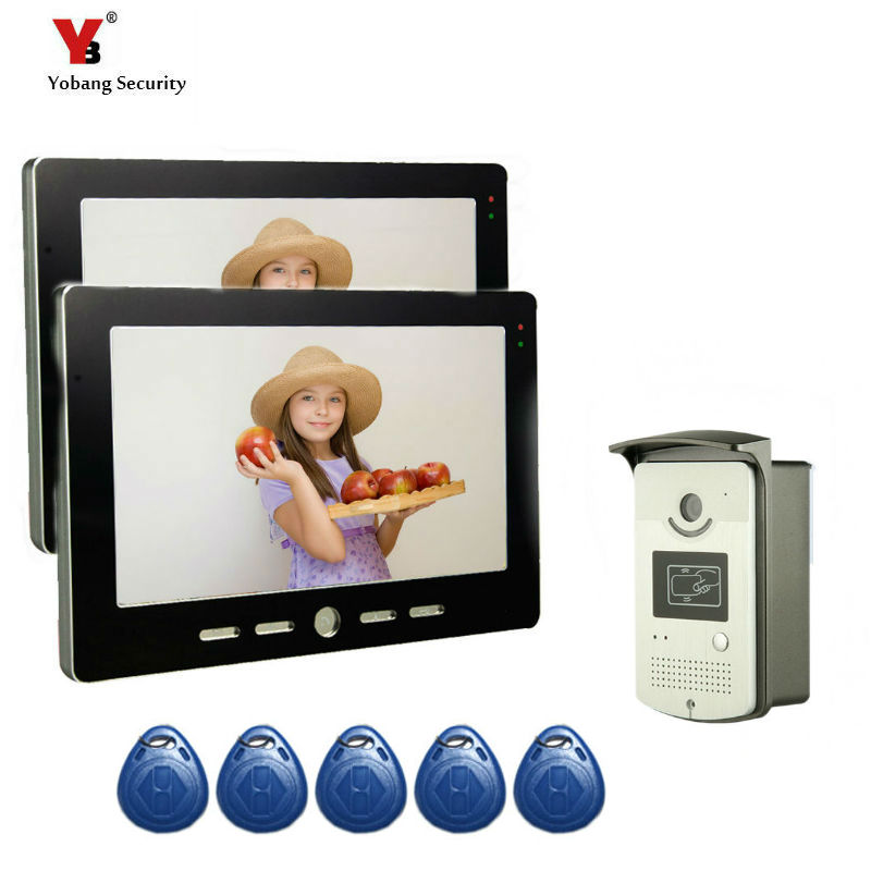 Yobang Security 10Video Intercom Door Phone System With 1 black Monitor RFID Card Reader HD Doorbell Camera In Stock WholesaleYobang Security 10Video Intercom Door Phone System With 1 black Monitor RFID Card Reader HD Doorbell Camera In Stock Wholesale