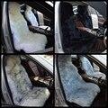 2 peças/lote 4 Cores DUMI 2016 135x55 cm Universal Fit Longo casaco de Lã de Inverno 100% Genuína Pele De Carneiro Assento de Carro cobre
