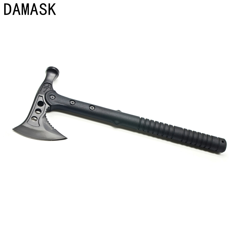 New Damask High Carbon Steel Hammer Wrench Axe Fire Ice Army Tactical Tomahawk Outdoor Practical Axe Hand Tool Free Shipping