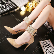 Fashion Angle Strap Style Thin High Heels font b Women b font Pumps Sexy Pointed Toe