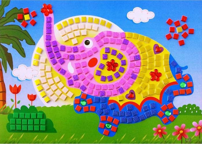 3D Foam Mosaics Sticky Crystal Art Princess Butterflies Sticker Game