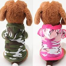 Small Pet Canine Camouflage Hoodie Coat Sweatshirt T-shirt Cotton Mix Garments XS S M L Free Delivery