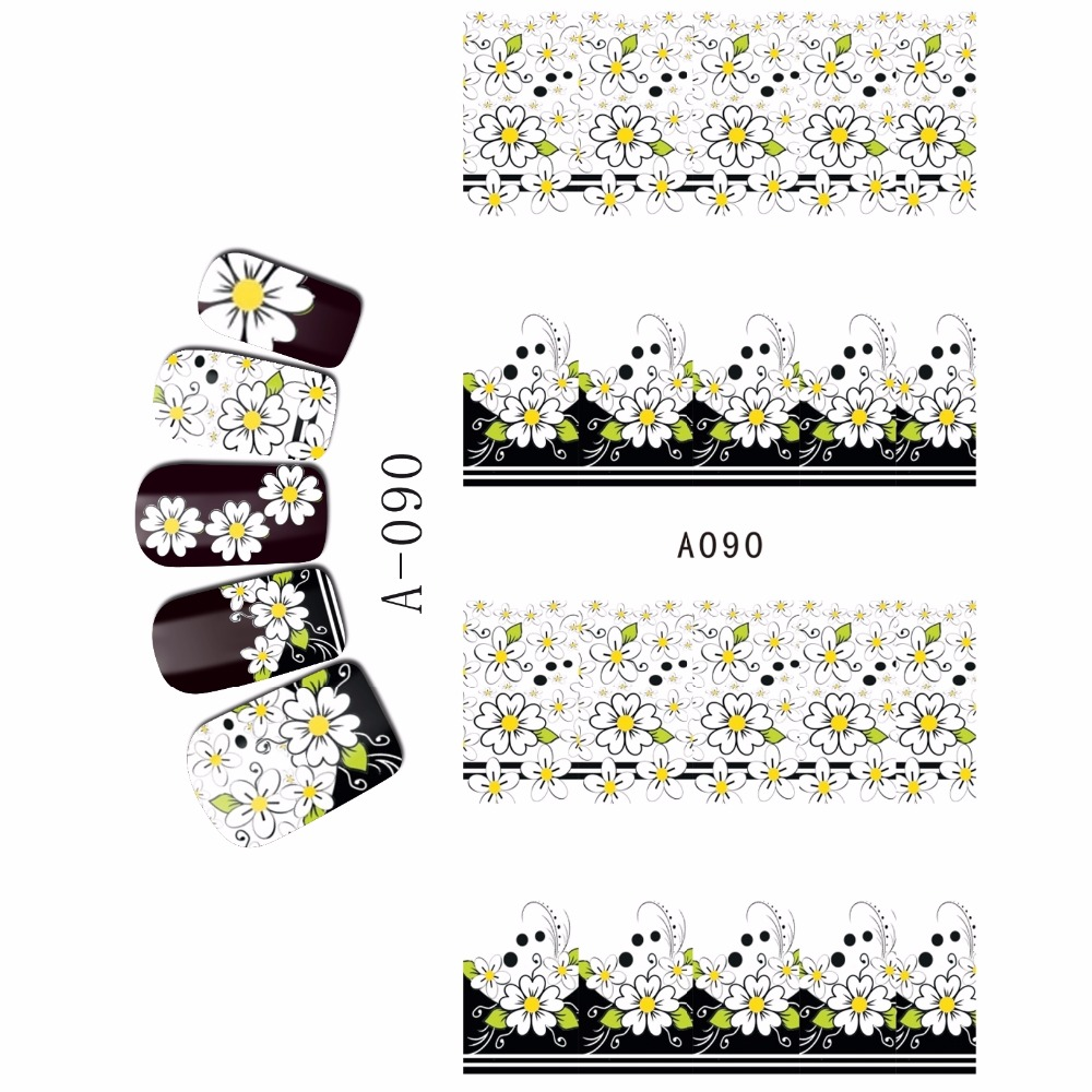 WATER DECAL NAIL STICKER FULL COVER FLOWER DANDELION DAISY COW BOY GIRL HAPPY FAMILIES DAD AND KIDS  A085-090 4 packs lot full cover white french smile lace tattoos sticker water decal nail art d363 366w