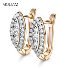 MOLIAM New Design Luxury Small Hoop Earring Fashion Nuevos Anillos White Crystal CZ Statement Earing Jewelry for Women MLE192