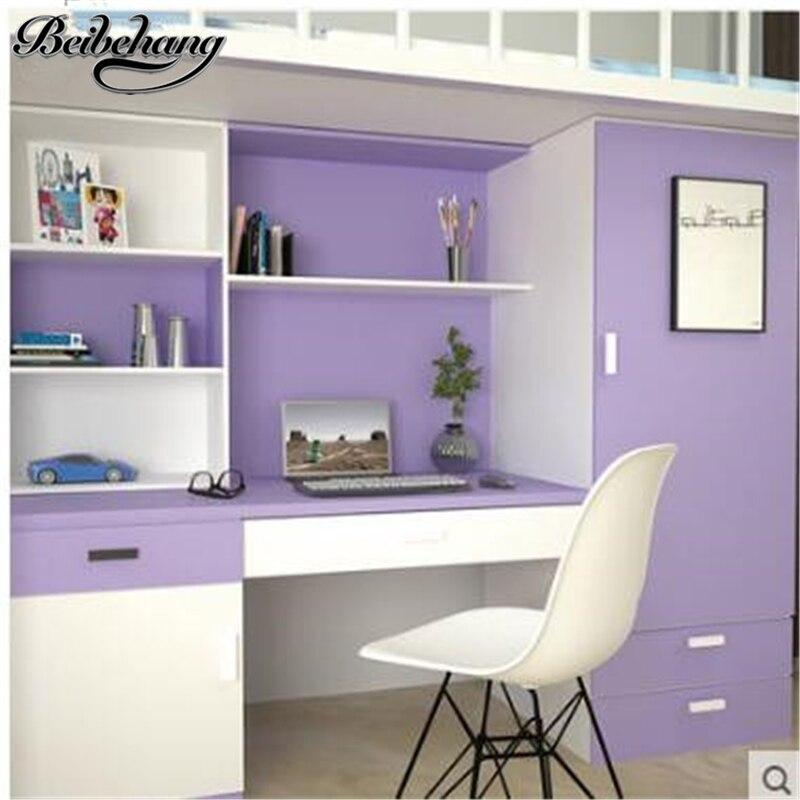 Beibehang Pvc auto-adhésif solide couleur papier peint étanche collège étudiants dortoir armoire meubles rénovation autocollants