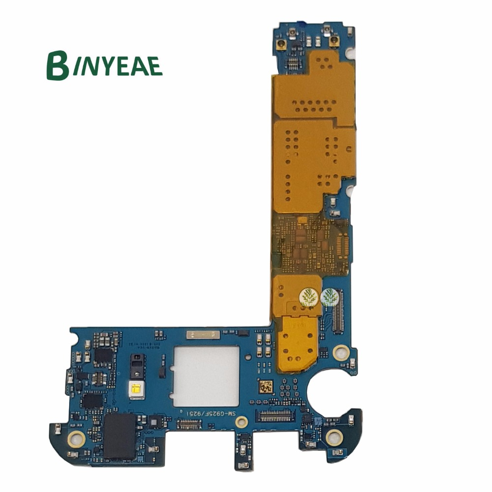 BINYEAE Original Unlocked Main Motherboard 32GB Replacement For Samsung Galaxy S6 Edge G925F Testing GoodBINYEAE Original Unlocked Main Motherboard 32GB Replacement For Samsung Galaxy S6 Edge G925F Testing Good