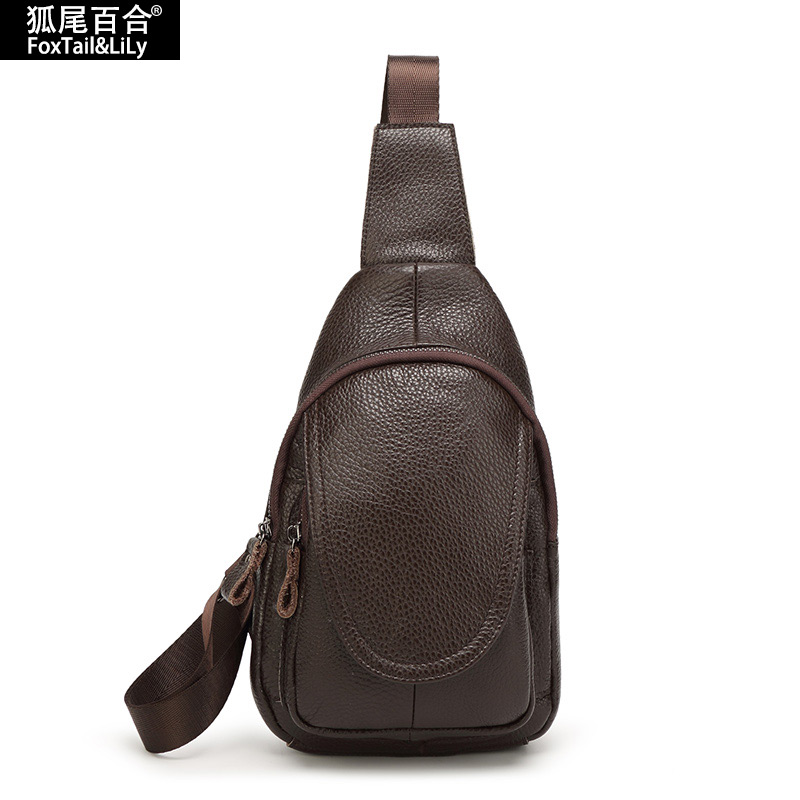 100% Genuine Leather Chest Pack Women and Mens Chest Bag Famous Brand Crossbody Shoulder Bag