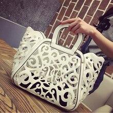 luxury handbag white women beach bag 2019 fashion hollow handbags bags designer ladies hand cross