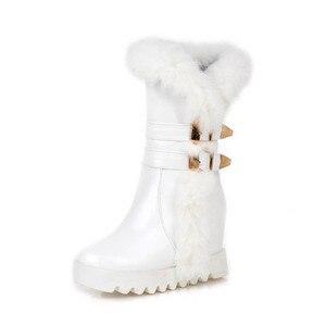 Image 5 - MORAZORA 2020 جديد وصول منتصف العجل أحذية النساء عالية كوليتي بولي winter الشتاء الثلوج الأحذية الدفء أحذية منصة امرأة كبيرة الحجم 34 43